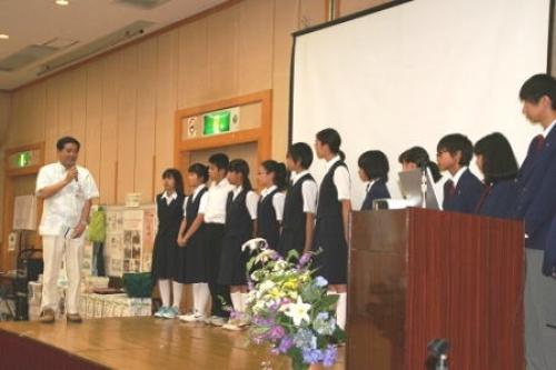 北陽と萩園中学校生徒が特色ある活動を発表!