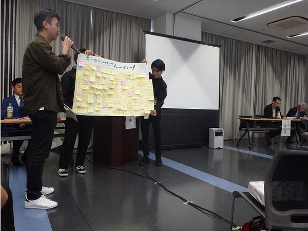 こちらのグループからは、ごみや資源に関して、地域や住民、行政、企業間のコミュニティの大切さが提案され、SNSの活用と合わせて「#(ハッシュタグ)で作る(つながる)ゴミュニティ」と、新しい造語の提案もありました!