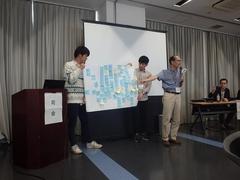 発表にも熱が入ります。こちらのグループからは、茅ヶ崎の環境の将来像にキャッチコピー「生命力あふれる、未来に誇れる『環境』」をご提案いただきました。